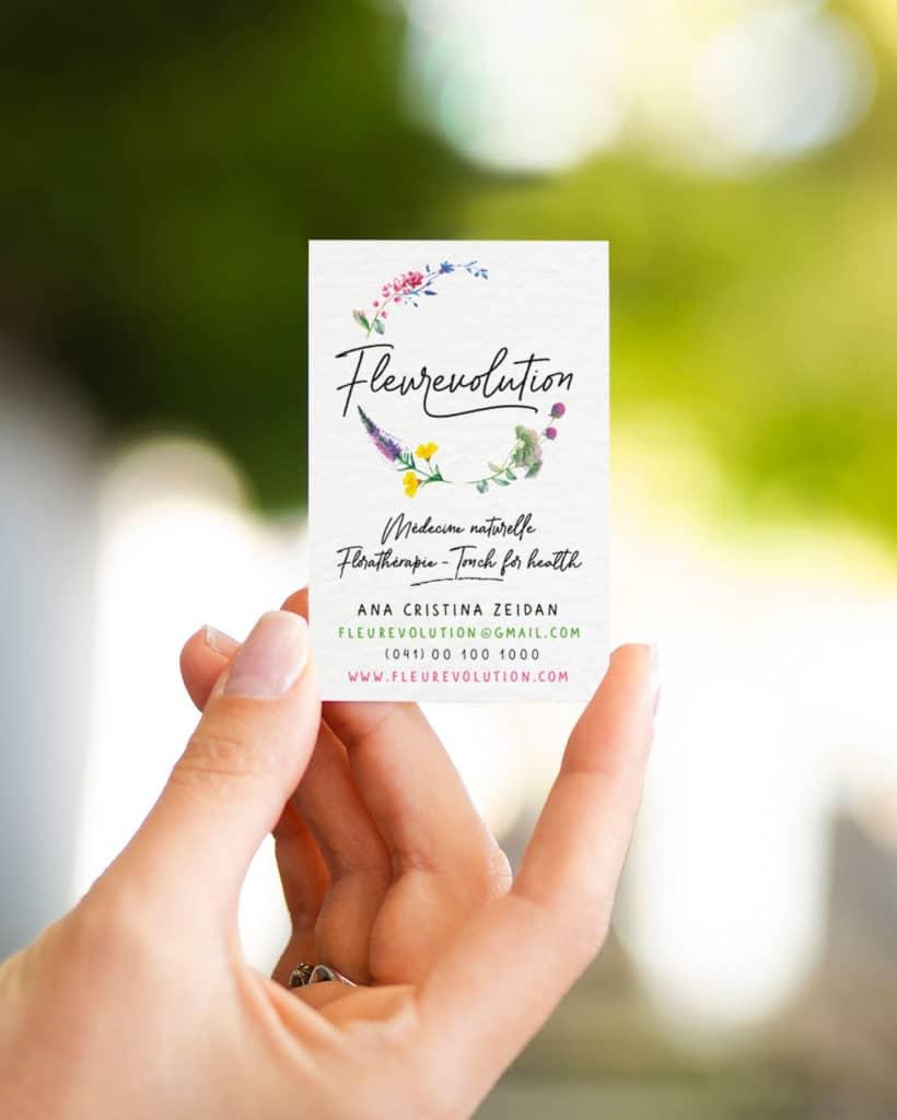 Main tenant carte de visite Fleurevolution