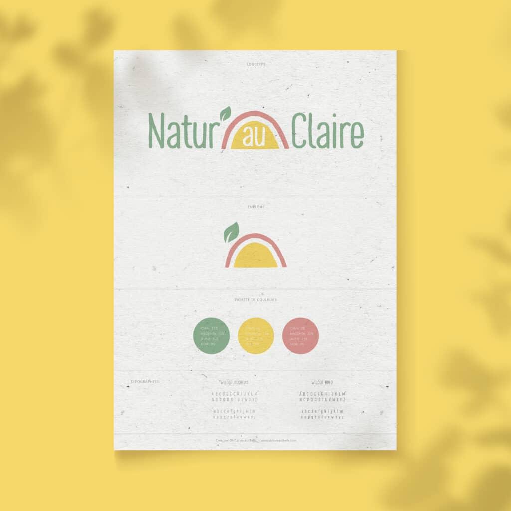 Charte graphique logotype naturopathe