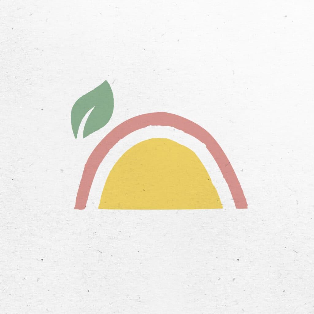 Emblème arc en ciel logotype naturopathe