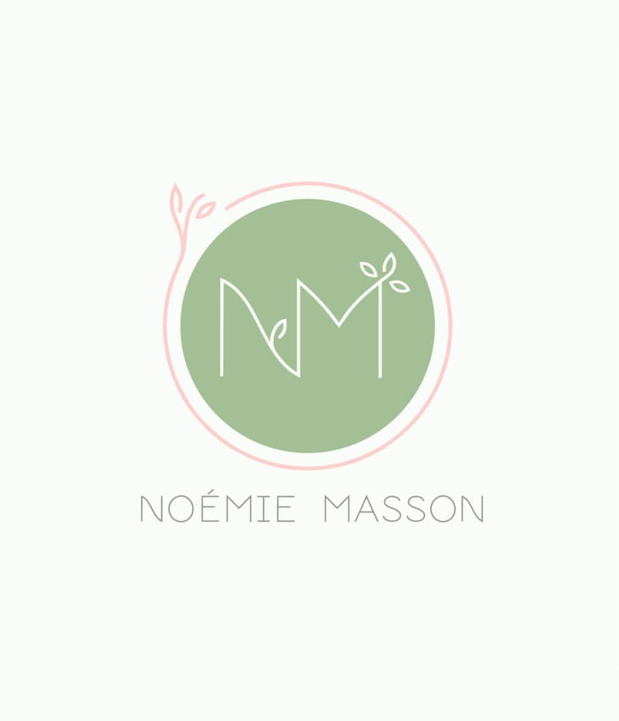 Logotype naturopathe et professeur de yoga naturel et végétal