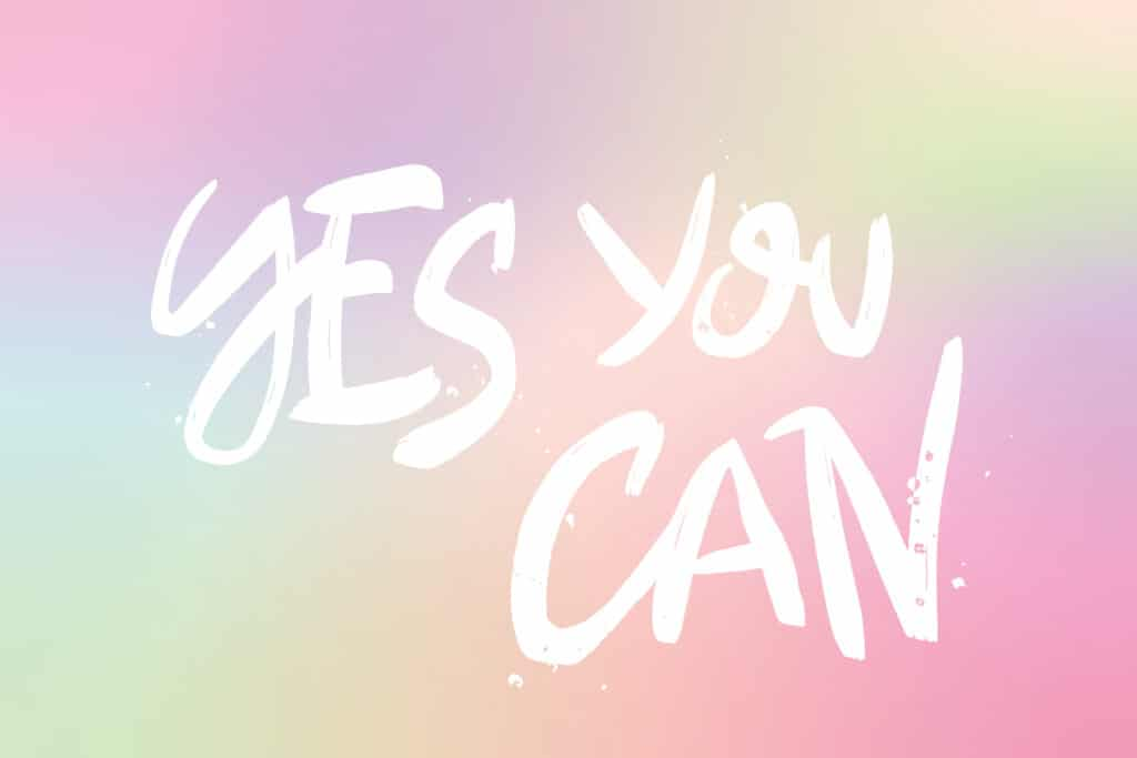 Typographie YES YOU CAN