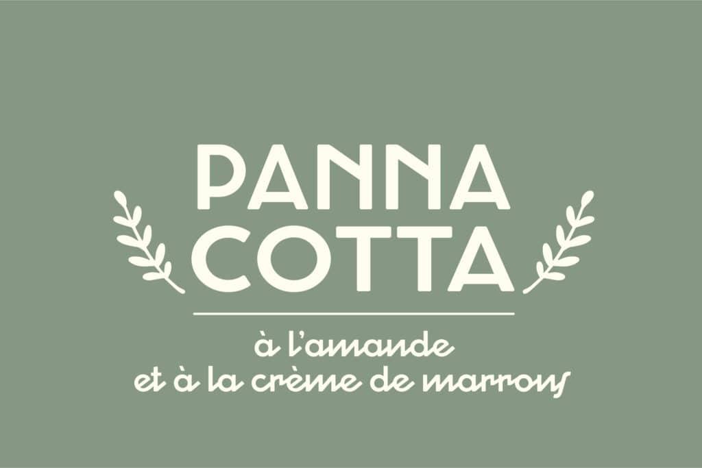 Logotype panna cotta végétale