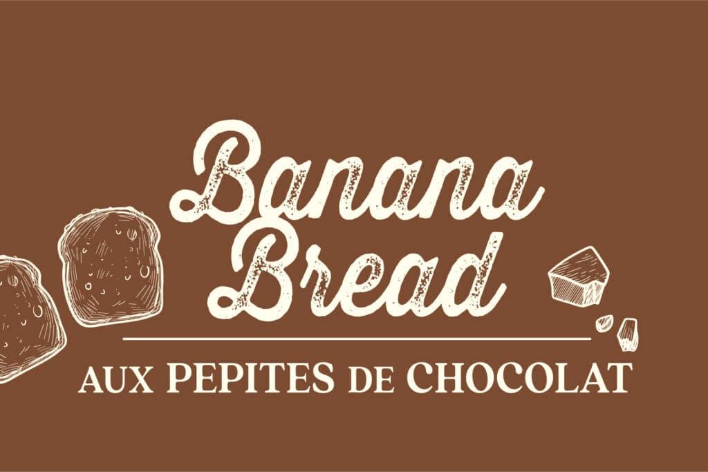 Typographie banana bread