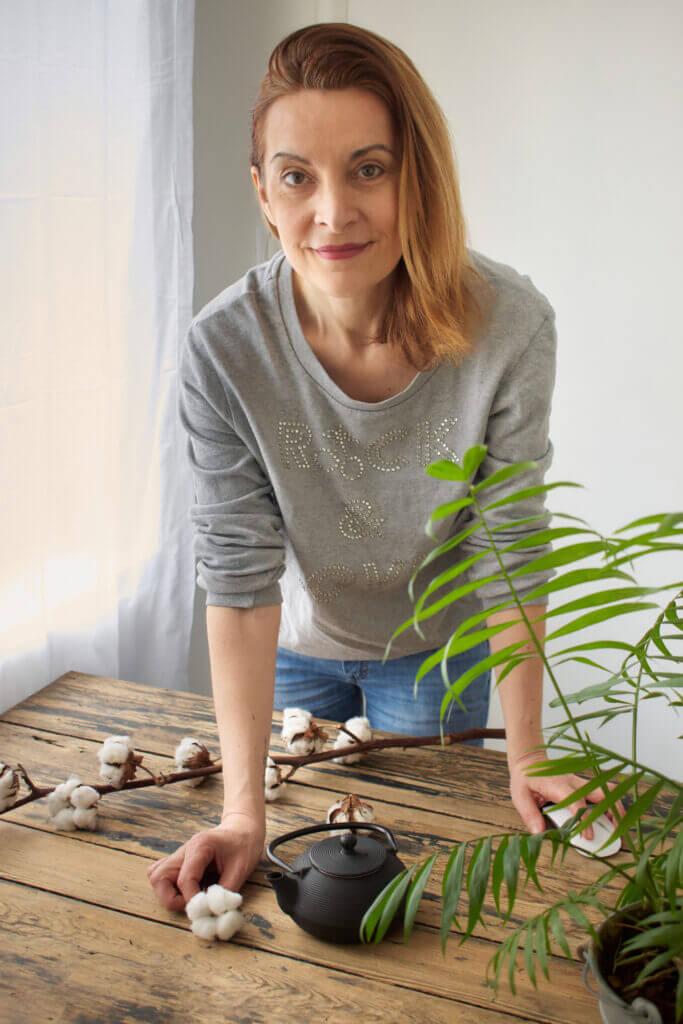 Nathalie Demarquoy en shooting
